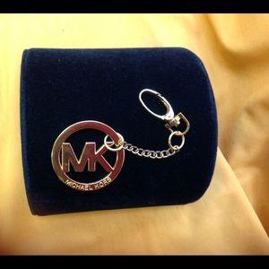 MICHAEL KORS Goldtone Purse/Key Ring